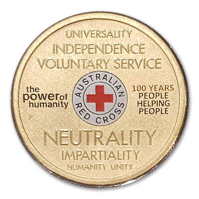 Australia 2014 Red Cross Centenary $1 One Dollar UNC Coin Perth Mint