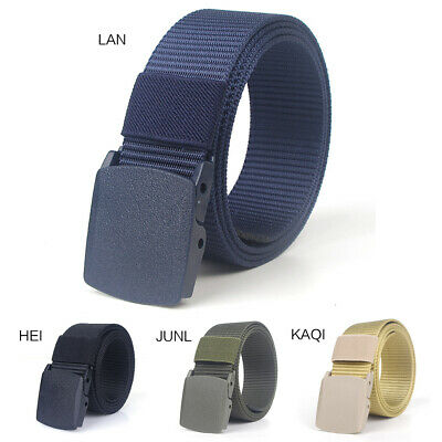 Men's Outdoor Sports Military Tactical Nylon Waistband Canvas Buckle Web Belt