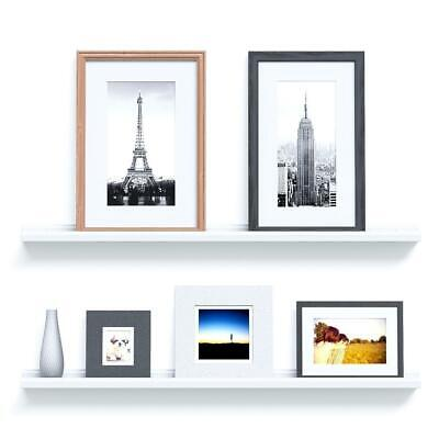 """Picture Ledge 46"""" Wall Floating Shelf White Ribba Book Holder Spice Rack"""
