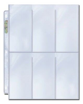 ULTRA PRO Trading Card Plastic 6-Pocket Page Sleeve for Extra Tall Cards x10 NEW