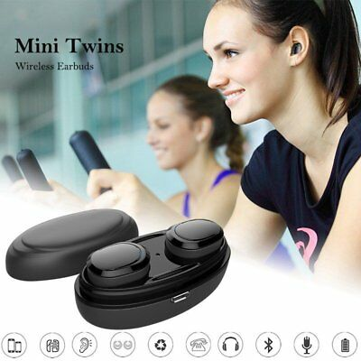 Mini Twins True Wireless Sport Earbuds Headset Bluetooth In-Ear Stereo Headphone