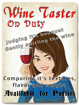 Wine Taster Metal Sign for wine cellar collectible vintage style wall decor 648