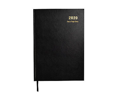 2020 A5 Diary Day to Page Desk Diary Hardback Cover, Red, Blue, Black x 1