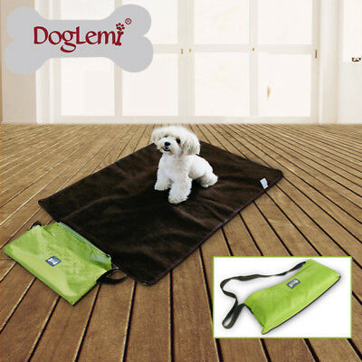 Foldable Portable Pet Dog Outdoor Blanket Travel Waterproof Fleece Cushion Bed