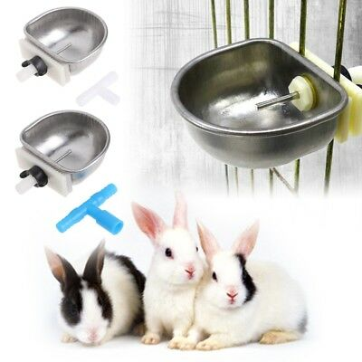 Rabbit Automatic Drinker Water Feeder Stainless Steel Fix Bowl T Joint Equipment