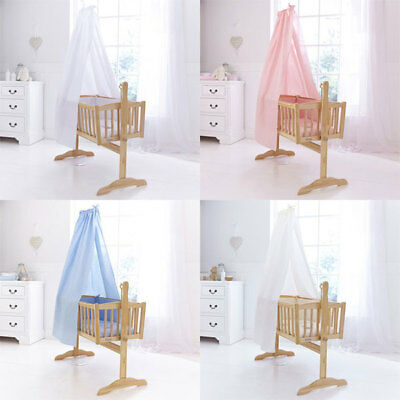 Clair de Lune Cot/Crib/Cradle Free Standing Drape and Rod Set