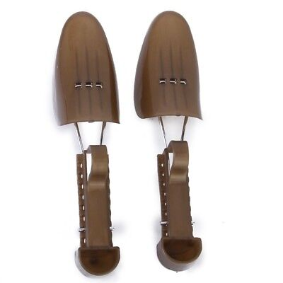 1 Pair of Adjustable Plastic Shoe Trees for Women Size 2.5-6---Brown K5L W4E1