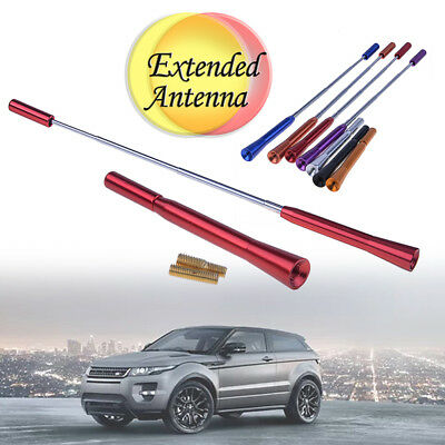 Red Universal Car Antenna Aluminum Alloy Extensible Decor Aerial With Screw