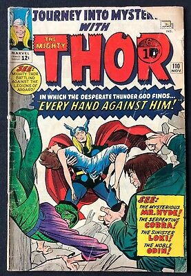 Journey Into Mystery With Thor #110 Good Condition 1964