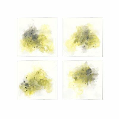 June Erica Vess 'Citron Cloud' Canvas Art (Set of 4)