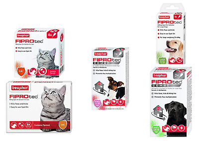 FIPROtec Spot On Flea & Tick Treatment Solution Prevention For Cat 6 Pipettes