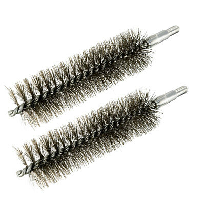 M6 Steel Wire Pipe Tube Sweep Cleaning Chimney Brush 30mm Diameter 2pcs