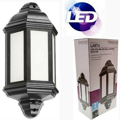 LED Outside Half Wall Lantern IP54 Garden PIR Movement Sensor Security Light 840
