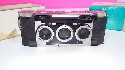 Stereo Realist 2.8 Vintage Camera David White Lenses Model 1042 with Box 1950s
