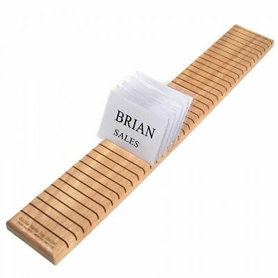 New Name Badge Rack 40 slots wood organizer for Business, Social or Trade Shows