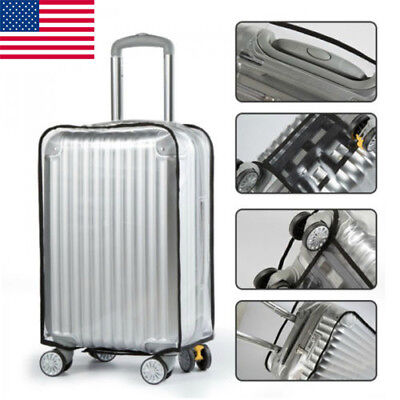 Clear PVC Waterproof Luggage Cover Suitcase Protector 20/22/24/26/28/30 inch US