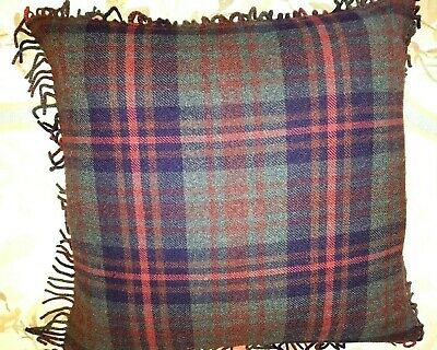 A Pair Of Euro Pillow Shams Ralph Lauren Plaid Bedford