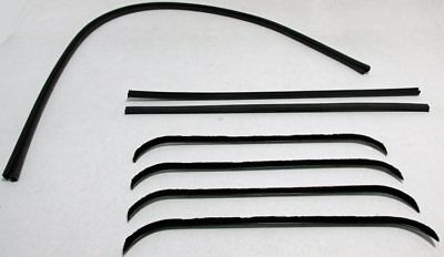 1941-1949 International Window Weatherstrip And Run Channel Kit, 8 Pcs