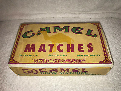 Camel Matchbooks and Camel Lights Matchbooks, Sealed Packages of 50 (100 Total)