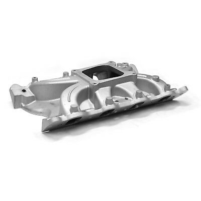 fits Ford 302 351C Cleveland 2V Torque Low Rise Intake Manifold Satin
