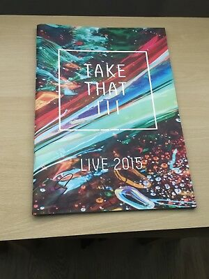 Take That Signed Iii / Live 2015 Programme And Bag