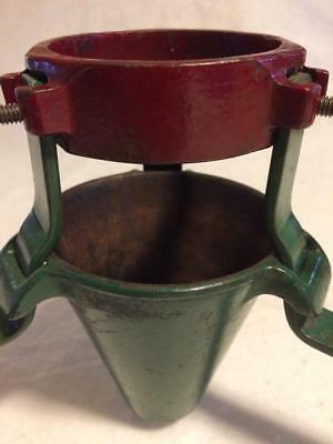 Vintage Cast Iron Christmas Tree Stand-Red & Green—Quasi Mfg Co