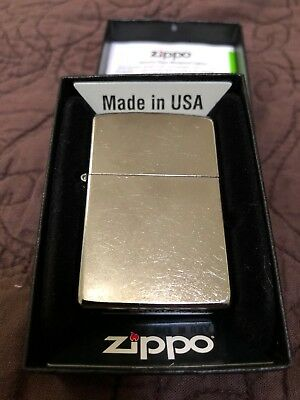 Zippo Windproof Regular Street Chrome Lighter, 207, New In Box