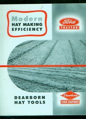 C. 1952 Ford Tractor Dearborn Hay Tools 8-page, magazine-sized brochure
