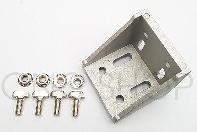 PROFILE 30 - 60x60 ANGLE BRACKET JOINER SET FOR T-SLOT FRAME PROFILE EXTRUSION