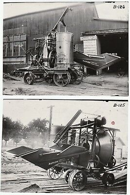 SUPER Orig 2 Photos INDUSTRIAL Machine ID'd Steampunk 1913 Steam Engine Chicago