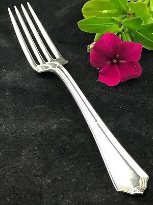 "GORHAM PLYMOUTH STERLING DINNER FORK 7"", monogrammed"