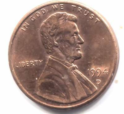 U.S. 1994 D Lincoln Memorial Penny - One Cent Coin - Denver Mint