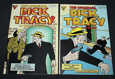 THE ORIGINAL DICK TRACY by Chester Gould (Gladstone 1991) #3 & 5 VF/NM!