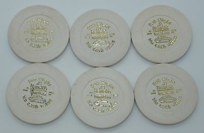 Set of 6 Harrah's Trump Plaza $1 NCV Casino Chips Atlantic City New Jersey