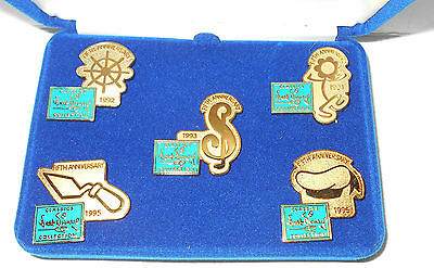 Walt Disney Classics Collection Collector Pins - Boxed 5Th Anniversary Set