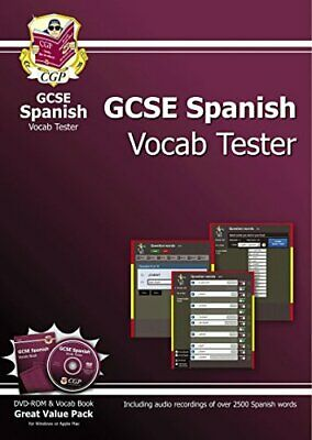 GCSE Spanish Interactive Vocab Tester - DVD-ROM and Vocab Book (... by CGP Books