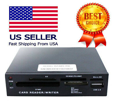 """iMicro 3.5"""" All-in-One Internal Flash Memory media Card Reader black SD SDHC"""