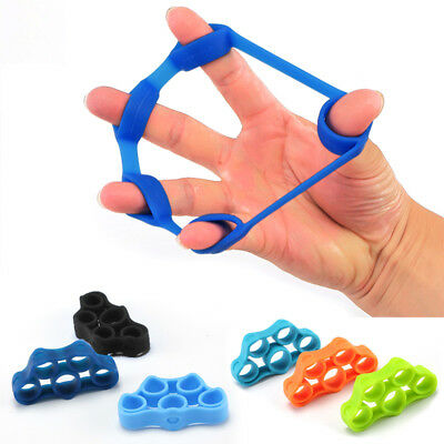1/3PCS Silicone Finger Hand Grip Gripper Ring Trainer Resistance Band Expander