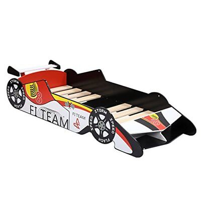 LANGRIA 3D Letto-Auto da corsa in Stile Laccato Lucido Racing Car Lettino (RT9)