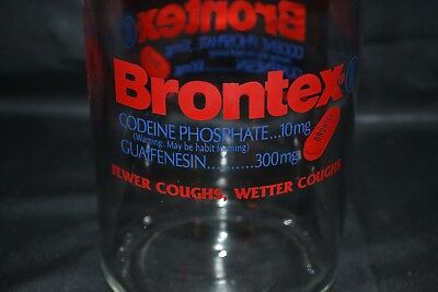 Vintage Doctor Apothecary Pharmacy Canister Brontex Codeine Stainless Lid