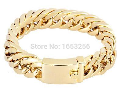 High Quality Curb Chain Bracelet Stainless Steel Mens Cool jewelry 14mm 8.46''