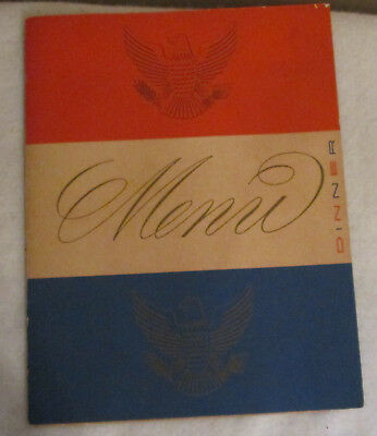 Ss United States-Rare Red-White-Blue Fold Over Menu  1953