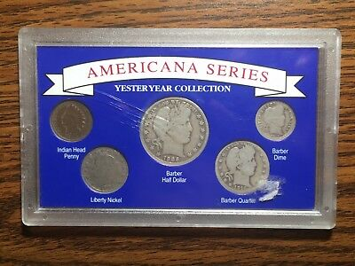 Americana Series Yesteryear Collection -Early 1900's US Coins -Barber Set