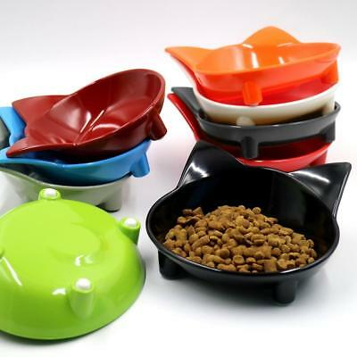 AU Pet Bowl Cat-shaped Tableware Pet Dog Cat Puppy Food Water Travel Eating Dish