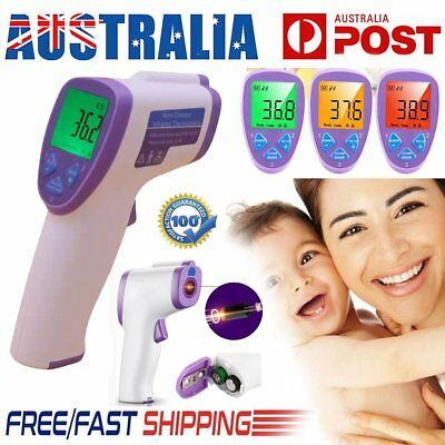 LCD Digital Infrared Body Thermometer Forehead Baby Adult Surface Temperature AU