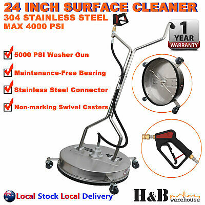 "24"" High Pressure Surface Cleaner Stainless Steel 4000 PSI Industrial Grade Sale"