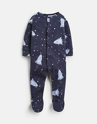 Joules 125067 Printed Babygrow in FRENCH NAVY SPACE BEAR