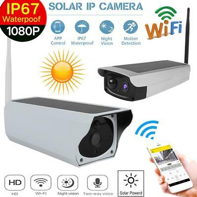 Outdoor Full HD 1080P Solar Wifi P2P Wireless Security P2P IP Camera Waterproof