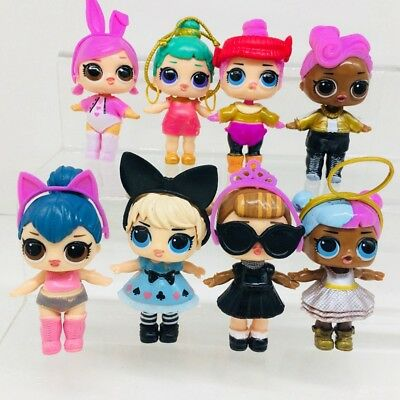 10PcsNew-LOL-SURPRISS-DOLL Blind Mystery-Toy PVC Figure-Cake-Topper-Gift-Kid-Toy