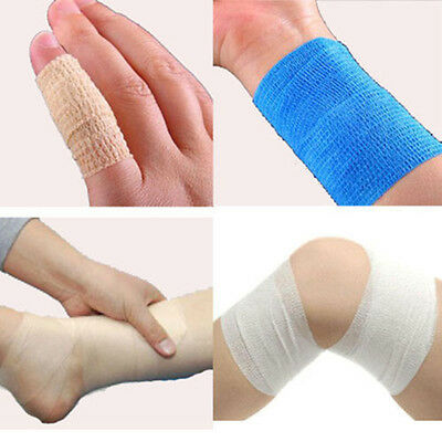Self-adhesive Elastic Wrap Bandages Vet First Aid Soft Body Gauze Tape Stretch**